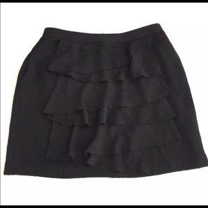 BCBG Max Azria Ruffle Front Elastic Waist Pockets